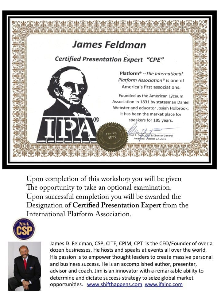 Certified Presenter Certificate